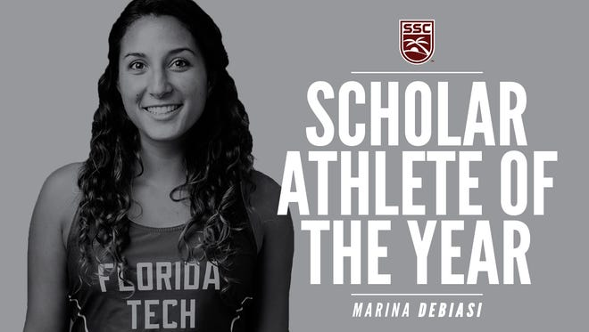 Florida Tech cross country runner Marina DeBiasi has been named the 2017-18 Sunshine State Conference Female Scholar-Athlete of the Year.