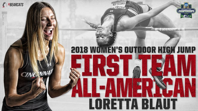 University of Cincinnati senior Loretta Blaut (Seton High School) tied for 2nd in the high jump in the 2018 NCAA Outdoor Track & Field Championships this past weekend.