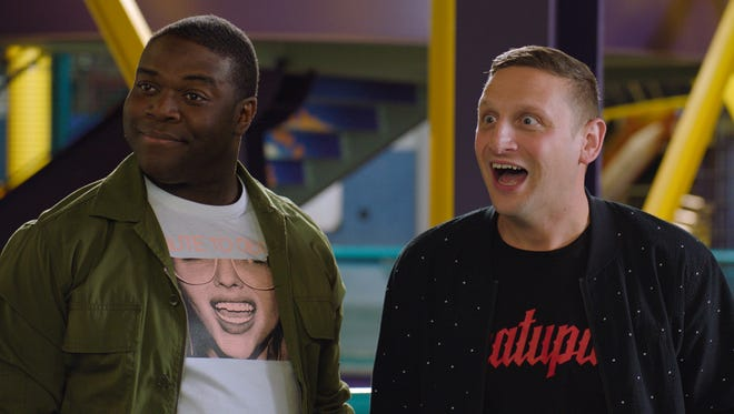(From left) Sam Richardson and Tim Robinson in a scene from season two of Comedy Central's 'Detroiters.'