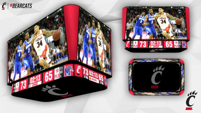 The University of Cincinnati's newly renovated Fifth Third Arena will feature new video boards when it reopens for the 2018-19 season.