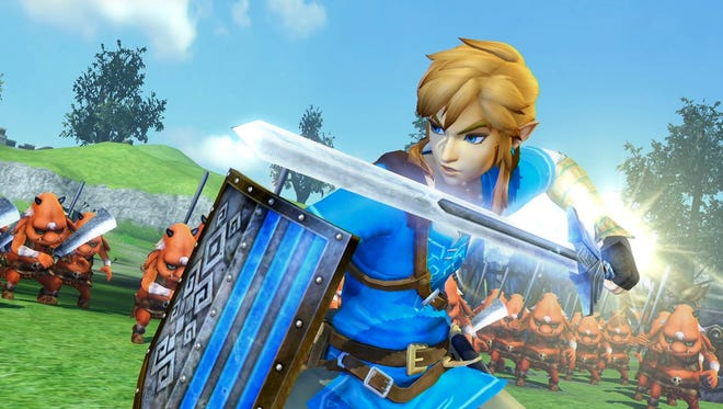 Link gets his Breath of the Wild costume in Hyrule Warriors Definitive Edition for the Nintendo Switch.