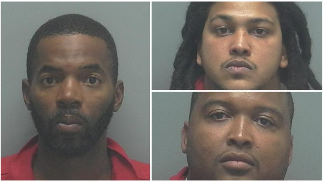Chaunce Neal, 28, of Cape Coral, Jeremiah Evans, 28, of Cape Coral, and Felix Perkins, 30, of Fort Myers.