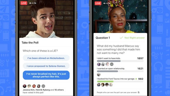 Facebook announced new interactive features for live