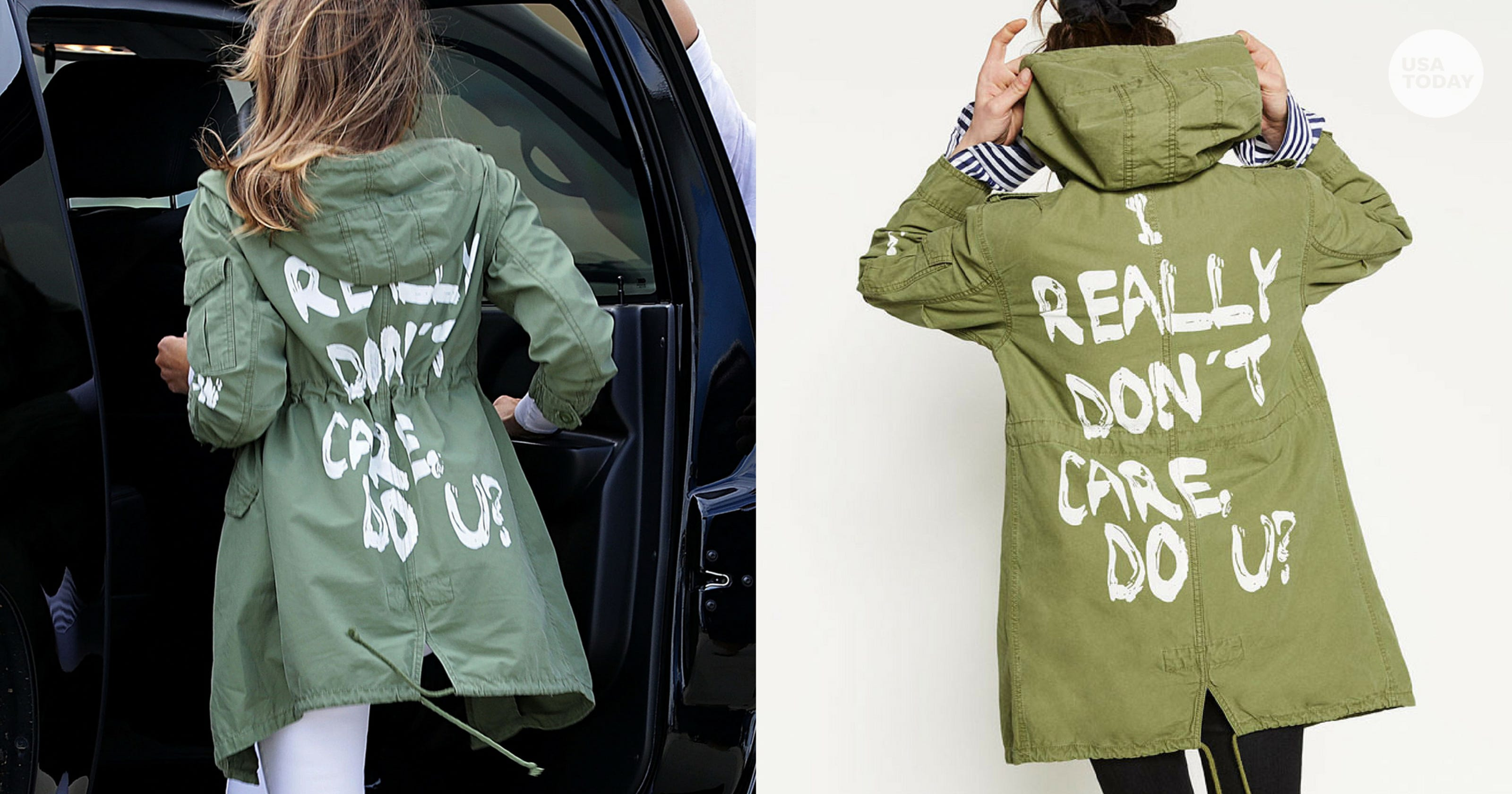Image result for melania jacket i really don't care do u