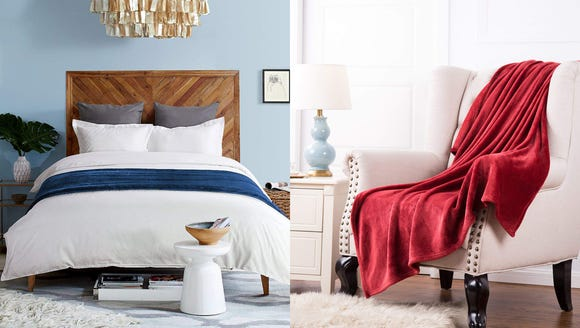 Upgrade your bedroom with a super affordable blanket