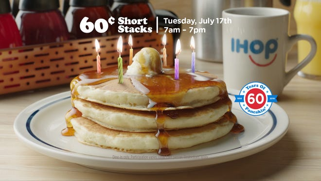IHOP celebrates its 60th anniversary July 17 with a deal.