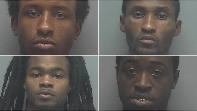 Clockwise from top left: Diante Davis, 21, Eric Fletcher, 30, James Brown, 23, Kwameaine Brown, 25.