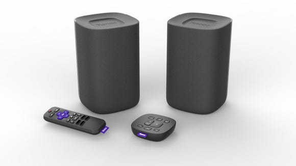 The new Roku wireless speakers, due to ship in late