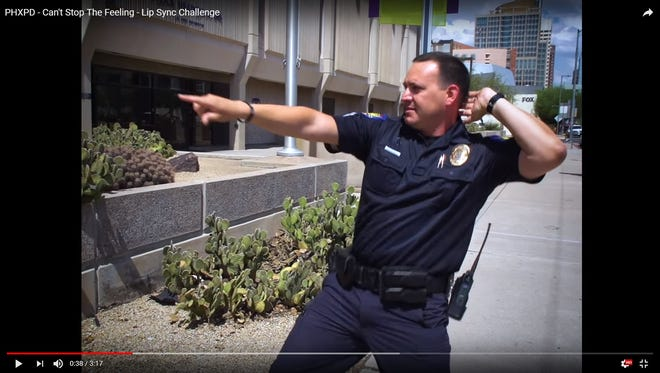 As law-enforcement agencies nationwide show off their lip syncing abilities and wicked dance moves, Phoenix police officers are the latest in Arizona to participate.