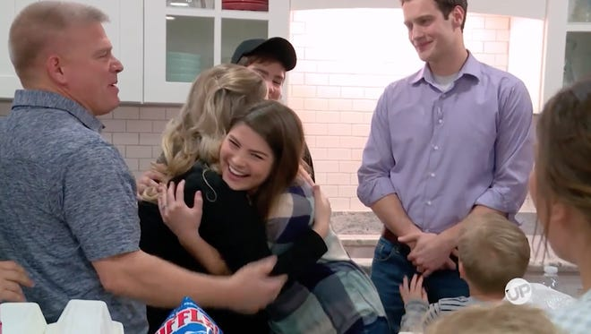 "From left are Gil Bates, Erin (Bates) Paine, Tori (Bates) Smith and Bobby Smith in a scene from ""Bringing Up Bates."""