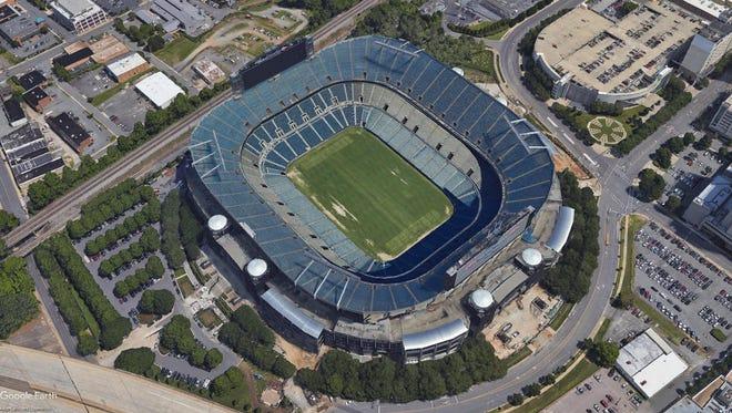 Bank of America Stadium, Charlotte, North Carolina.