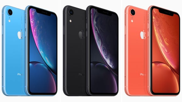 Apple's iPhone XR comes in many colors including blue,