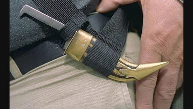 A Kirpan is a religious knife in the Sikh faith.