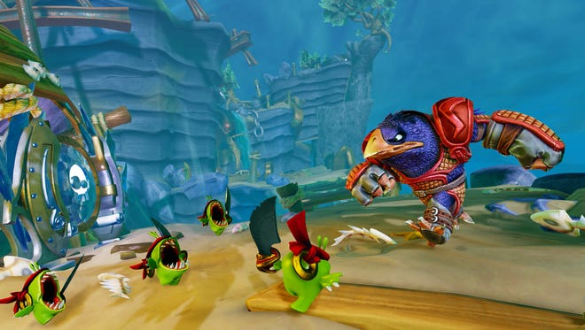 """Capture baddies and use them against your foes in """"Skylanders Trap Team"""" for consoles."""