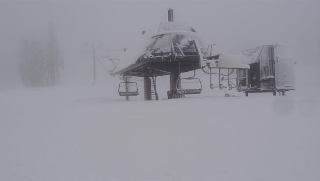 Mount Bachelor on Friday, Nov. 21 shows 6 inches of new snow.