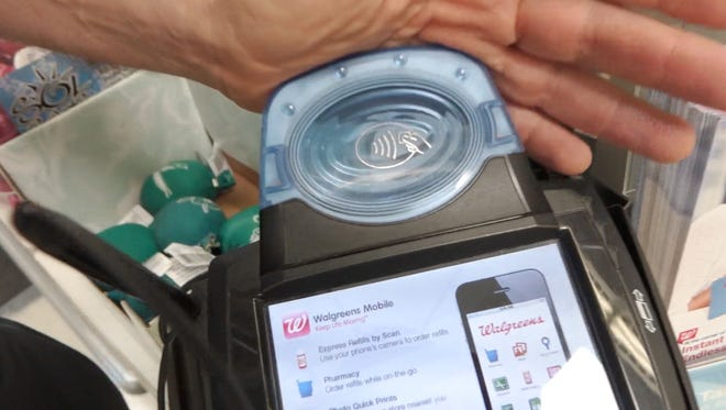 NFC pinpad at Walgreens to pay with Apple Pay or Google Wallet