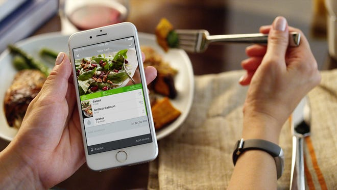 The UP app showing the food screen.