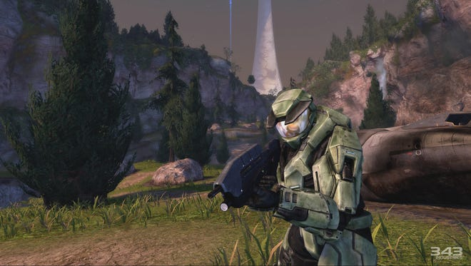 A screen shot from 'Halo: Combat Evolved Anniversary' in the 'Halo: Master Chief Collection' video game release.