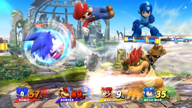 A scene from 'Super Smash Bros.' for the Wii U.