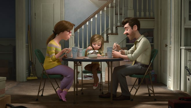 """""""Inside Out"""" takes audiences inside the mind of 11-year-old Riley (voiced by Kaitlyn Dias). Her parents are voiced by Diane Lane and Kyle MacLachlan."""