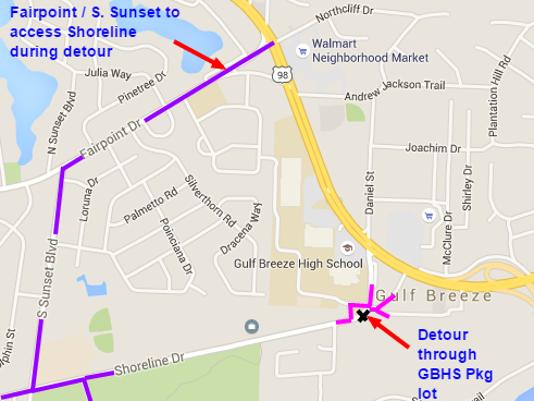 Shoreline Drive closure