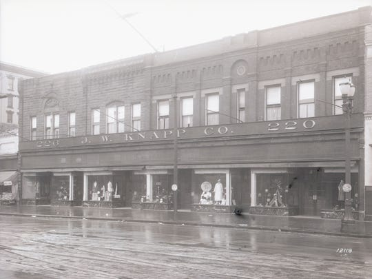J.W. Knapp Co., located at 200-220 S. Washington Square, shown here in March 1927.