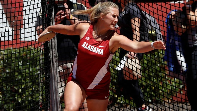 Alabama thrower and Gregory-Portland grad Haley Teel have some new found confidence as she prepares for the SEC Outdoors Championships this weekend in South Carolina.