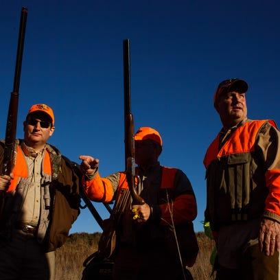 Photos: Cruz, Santorum pheasant hunt with Steve King
