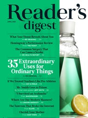 The cover of the April 2016 Reader's Digest issue