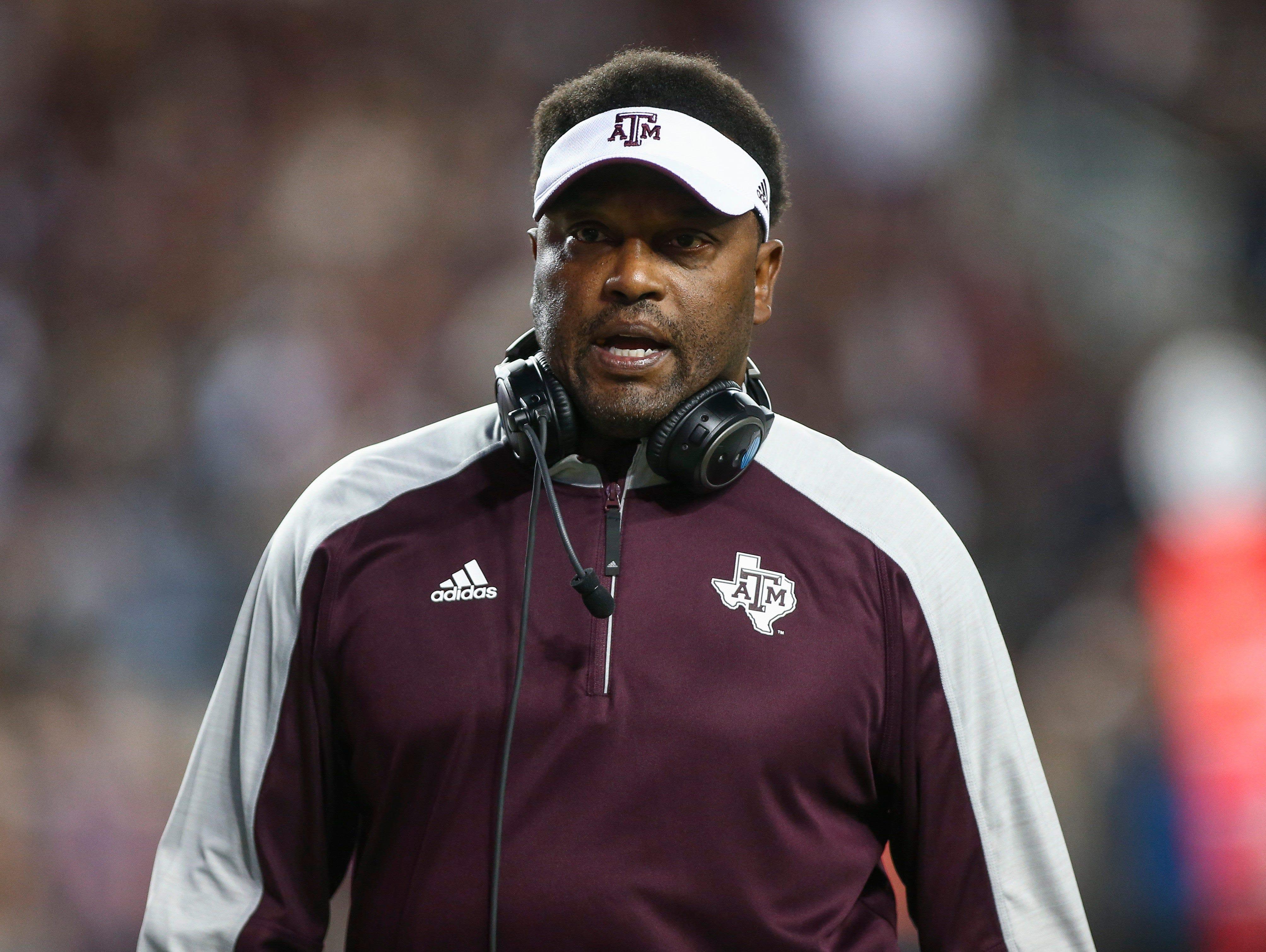 Texas A&M Aggies head coach Kevin Sumlin.