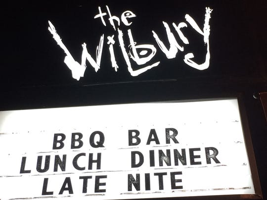 The sign at the Wilbury welcomes late-night diners.