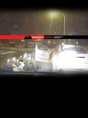 In this dashcam video from Inkster Police, officers are seen pulling Floyd Dent from his car. Dent was pummeled during the traffic stop. The assault of Dent eventually cost the impoverished community $1.4 million.