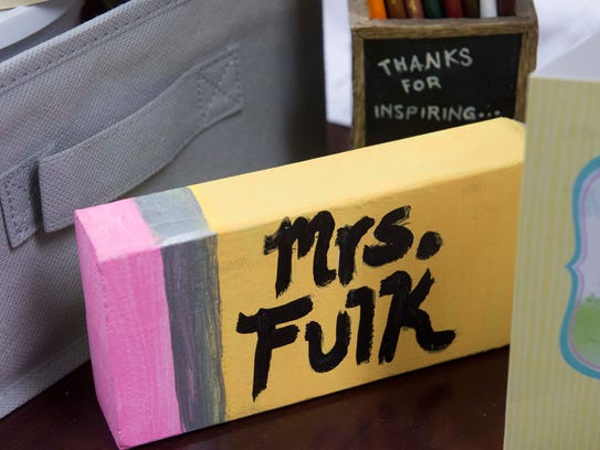 Items gathered over the years decorate Gwen Fulk's
