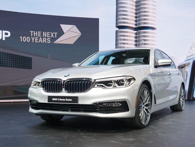 The BMW 5-Series 530e iPerformance pairs a 180-hp turbocharged