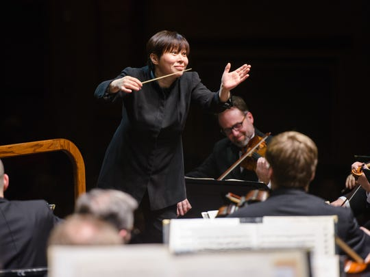 Xian Zhang conducts the New Jersey Symphony Orchestra.