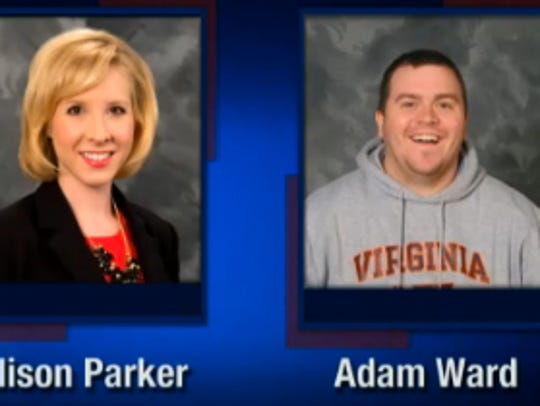 This screenshot from WDBJ-TV7, in Roanoke, Va., shows