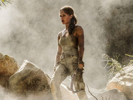 Alicia Vikander as Lara Croft in a scene from 'Tomb