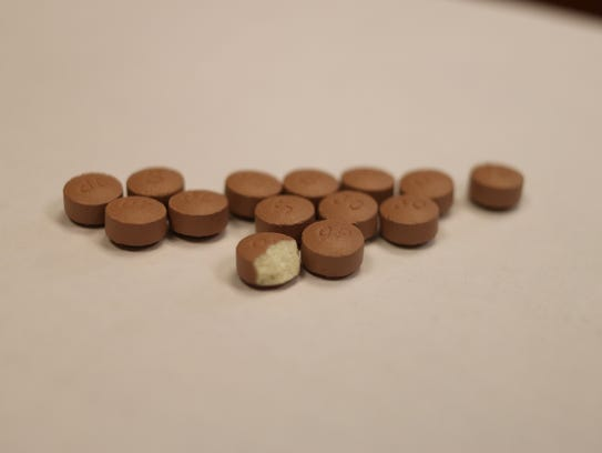 These 30mg oxycodone tablets confiscated from a drug