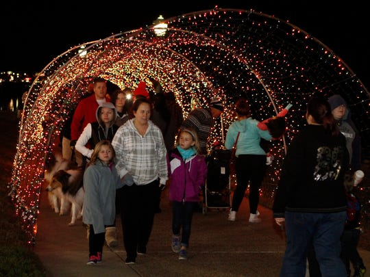More than 1,000 people enjoyed the grand opening celebration of the 17th annual Christmas on the Cumberland Tuesday at McGregor Park.