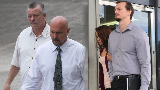 This combined image shows, from left: Clifford Shoemake and Kimberly Conner, part owners of Guam Medical Transport, and Nicholas Shoemake, executive assistant, right. The three defendants made an appearance at the District Court of Guam on Jan. 26.