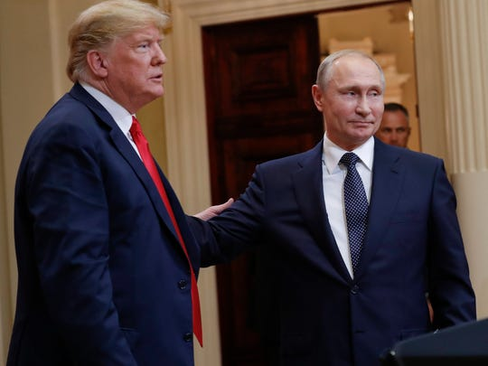 President Donald Trump (left) and Russian President