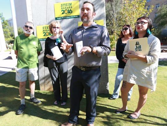 El Paso County Green Party member Jose Manuel Escobedo,