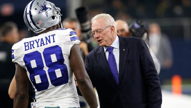 Jerry Jones wants his players to stand for the anthem.