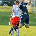 Brighton's Blake Barribeau, left, and Hartland's Sam Ellison, pictured Tuesday, both saw their teams come away with ties Thursday night.