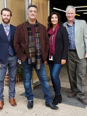 The management team of the Village Brewing Company - Mark Hay, Gary Frank, Iris Frank, and Scott Eadie - hope to open Somerset County's first brewpub in the former Woolworth's building on West Main Street in Somerville this summer.