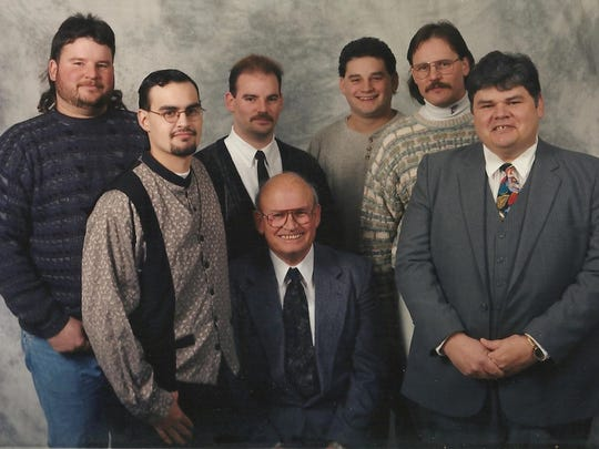 Robert Barton (center) with his five sons and grandson.