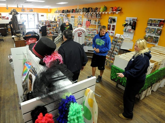 Customers shop Saturday at MB Subculture in Bucyrus.