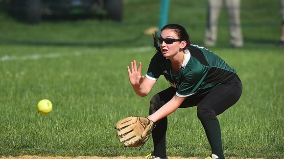 Caitlyn Magala and New Milford will host the third annual Varsity Softball Pediatric Cancer Tournament on Saturday.