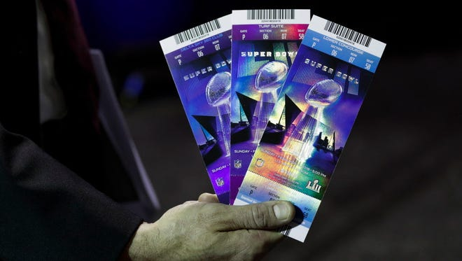 A look at the tickets for Super Bowl LII.