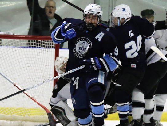 All pumped up after scoring Wednesday against Plymouth